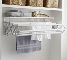 http://www.potterybarn.com/products/wallmount-drying-rack/?pkey=claundry-solutions Towel, Bathroom, Furniture, Home Decor, Homemade Home Decor, Bathrooms, Home Furniture, Interior Design, Bath