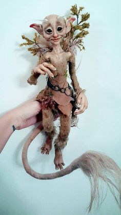 CUSTOM - Large OOAK Fantasy Fae Poseable Art Doll Character