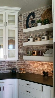 Kitchen with brick 😍 Achieve this look with Glen-Gery! Visit www.glengery.com explore our products!