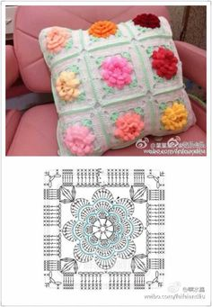 Transcendent Crochet a Solid Granny Square Ideas. Inconceivable Crochet a Solid Granny Square Ideas. Crochet Wreath, Diy Crafts Crochet, Crochet Ornaments, Crochet Home, Irish Crochet, Motifs Granny Square, Granny Square Crochet Pattern, Crochet Diagram, Crochet Squares