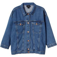 The everlasting trend-friend and ultimate antidote for outerwear dilemmas - The Denim Jacket.  Featuring oversized '80s feels, front pocket detailing x4, plus …