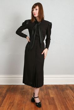 1930s 2pc Dress & Jacket LBD by VeraVague on Etsy https://www.etsy.com/listing/205266815/1930s-2pc-dress-jacket-lbd