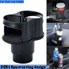 Car Seat Wedge Water Bottle Double Cup Holder Vstella Multifunctional Universal Car Cup Holder,Seat Back Drinking Bracket