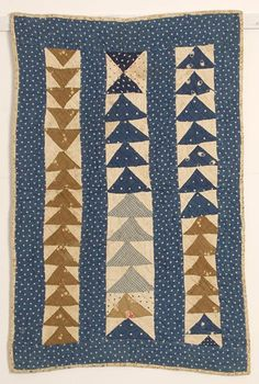 I've always admired   antique doll and cradle quilts.       found on Pinterest     Their humble patterns and   the irregularity of stitch...