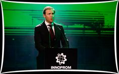 Mr Denis Manturov, Trade and Industry Minister of Russia addressing at the Inauguration of INNOPROM