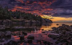 Keel Cove Sunset by Pius Sullivan Photography on Vancouver City, Vancouver Island, Best Places To Travel, Places To See, Chasing The Sun, Best Sunset, British Columbia, Beautiful World, Kayaking