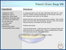 French Onion, Cookbook Recipes, Melted Butter, Olive Oil, Soup, Cooking, Diy, Kitchen, Cuisine
