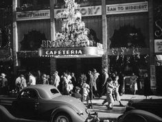 Clifton's restaurant downtown during Christmastime in 1937 (Photo by Herman Schultheis, courtesy of the Los Angeles Public Library Photo Collection)