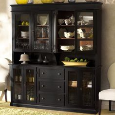 Wonderful Hutch And Buffet from Arhaus if you can keep it organized and/or simple inside those glass doors!
