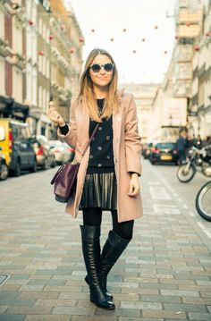 Over-The-Knee-Boots-Trenchcoat
