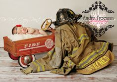 I need to remember to get a picture with my future children and my husband's fireman gear. :)