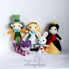 Alice in Wonderland Crochet Doll Characters Dolls by xMangoRose