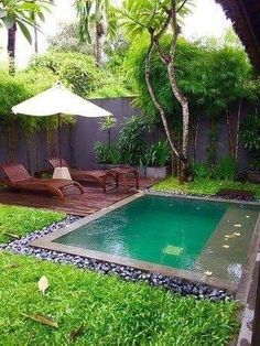 Having a pool sounds awesome especially if you are working with the best backyard pool landscaping ideas there is. How you design a proper backyard with a pool matters. Backyard Pool Designs, Small Backyard Patio, Patio Design, Backyard Landscaping, Landscaping Ideas, Garden Design, Backyard Cabana, Landscaping Supplies, Exterior Design