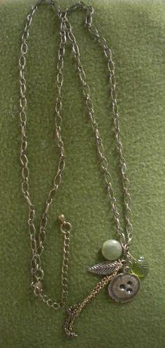 Bird nest bronze necklace