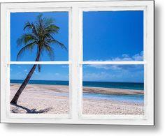 #Tropical Paradise Whitewash Picture #Window View Metal #Art Print by James BO Insogna. #insognaGallery -  All metal prints are professionally printed, packaged, and shipped within 3 - 4 business days and delivered ready-to-hang on your wall. Choose from multiple sizes and mounting options.