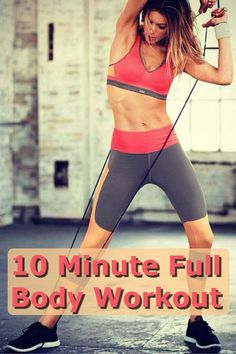 Quick 10 Minute Full Body Workout! Who doesn't have time to spare 10 minutes in their day!  #quickworkout #fitness #weightloss