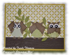 Wise Owls card by stampwithtrude - Cards and Paper Crafts at Splitcoaststampers
