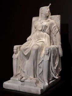 The death of Cleopatra, 1876 by Edmonia 'Wildfire' Lewis (1844-1907) first African/Native-American woman to achieve international fame as a sculptor #womensart