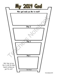 FREE 2014 Goal Ladder Graphic Organizer from Plug n Plan on TeachersNotebook.com -  (1 page)  - Graphic Organizer to help you set and achieve your 2014 Resolution/Goal
