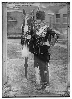 Crown Prince William of Germany was appointed colonel-in-chief of the English 11th Hussars in 1911.