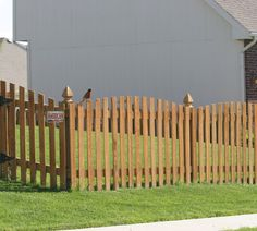 The American Fence Company Wood Fencing, 1001 4' Overscallop Picket