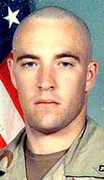 Army PFC Mark A. Barbret, 22, of Shelby Township, Michigan. Died October 14, 2004, serving during Operation Iraqi Freedom. Assigned to 44th Engineer Battalion, Camp Howze, Korea. Died of injuries sustained when an improvised explosive device detonated near his vehicle during combat convoy operations in Ramadi, Anbar Province, Iraq.