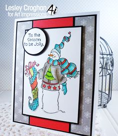Art Impressions Rubber Stamps: Tis the Season by Lesley Croghan
