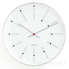 Arne Jacobsen Bankers Clock Wanduhr d=29 cm