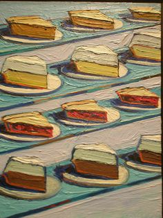 Wayne Thiebaud 'Refrigerator Pies', 1962, Milwaukee Museum of Art, Milwaukee, Wisconsin by hanneorla, via Flickr