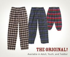 Original Flannel Pants - and ours remain unmatched. #flannel #winter #robes…