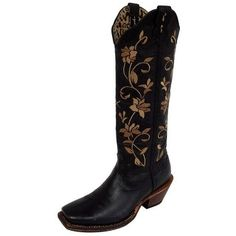 Twisted X Western Boots Womens Steppin' Out Tall Black WSOT002