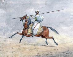 Mahratta horseman Battle of Arni on December 1751 in the Anglo-French Wars Indiana, Bengal Lancer, Shivaji Maharaj Hd Wallpaper, History Of India, Madhubani Painting, Military History, Ancient Art, Illustration, Battle