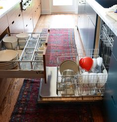 dishwasher and dish drawer opposite from each other for unloading.  Would let us put the dishwasher in an island.