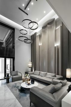Grey seating area   #seatingarea #design #moderndesign http://www.ironageoffice.com/