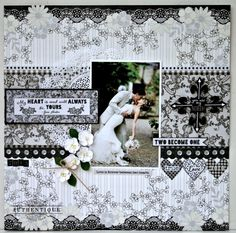 """wedding layout.... Authentique """"Everlasting"""" collection Everlasting Love Layout"""