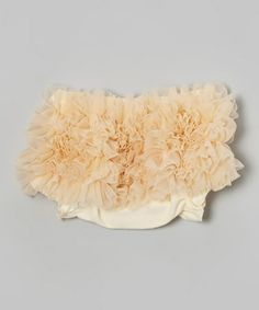 Look what I found on #zulily! Ivory Chiffon Ruffle  Diaper Cover - Infant #zulilyfinds