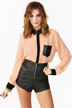 High Contrast Blouse