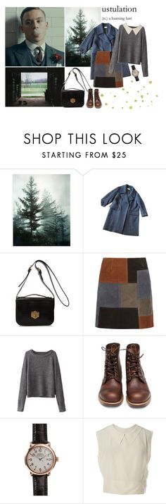 """By order of the Peaky Blinders."" by simplyvale ❤ liked on Polyvore featuring Shun, Dries Van Noten, Alexander McQueen, M.i.h Jeans, Red Wing, Shinola and Chanel"