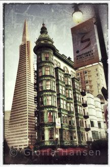 Another Transamerican Building and Columbus Tower, by Gloria Hansen