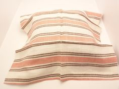 """1 #Vintage #Schumacher #Fabric #Sample 26"""" x 26"""" JUST for $7.99  3485004 #Leah #Linen #Stripe  Pink #Shell   100% Linen              +FREE SAMPLES #fabric #supplies #luxury #sample #linen #gift #vintage #quilt #cheap #schumacher #leah #stripe #pink #shell"""