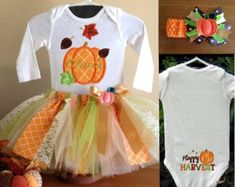 This item is unavailable Baby Pumpkin Costume, Pumpkin Tutu, Pumpkin Halloween Costume, Pumpkin Patch Outfit, Baby In Pumpkin, Halloween Dress, Baby Halloween Outfits, Baby First Halloween, 1st Birthday Outfits