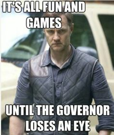 Its's all fun and games... Love this show and love David Morrissey