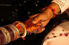 Hindu wedding, hand holding ceremony:  A part of the Hindu wedding ceremony is the Paani Grahanam or Hand Holding ceremony. The groom holds the hand of the bride and takes a vow : The Gods have offered you to me in order that I may live the life of your husband; from now our lives are joined, from this moment your well being is my responsibility, we shall never part ways. This is followed by Saptha Padhi. Holding the bride's hand, the bridegroom walks seven steps with her and only when they…