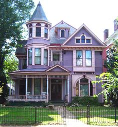 209 Madison Street, Lynchburg, VA The Ferguson House was built in 1902 by architect J.M.B. Lewis for tobacconist Stephen B. Ferguson.  Queen Anne Victorian style.