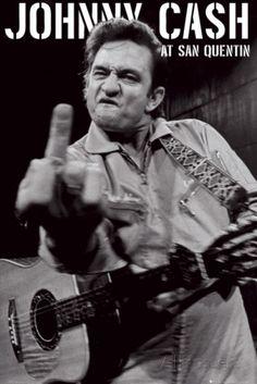 Johnny Cash- San Quentin Portrait Posters bij AllPosters.nl
