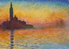 Claude Monet, San Giorgio Maggiore at Dusk, 1908-1912, National Museum Cardiff of Cardiff, Wales