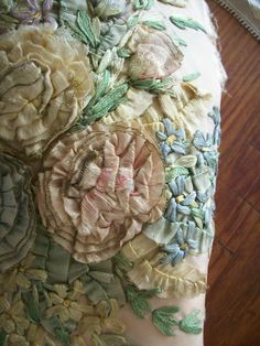Antique ribbonwork piece to frame or for a by TextileArtLace