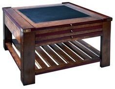Authentic Models Game Table Coffee Table-Red traditional coffee tables