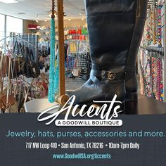 This holiday season, shop Goodwill Accent's Boutique for one of a kind, unique finds that won't hurt your wallet. Choose from a wide selection of Coach, Michael Kors, and other name brand purses at valued prices. 👛 PLUS walls of costume jewelry, scarfs, hats, and more! Find the perfect gift for your love one! 🧣 Shop with confidence, your purchases help fund programs that change lives right here in our San Antonio community. 💞 #SustainableFashion #GoodwillSA #ChangingLives Shop Goodwill, Goodwill Finds, Education And Training, Training Center, Scarfs, San Antonio, Sustainable Fashion, Costume Jewelry, Thrifting