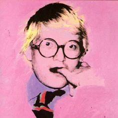 David Hockney by Andy Warhol.